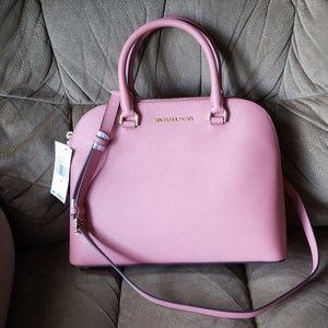 Michael Michael Kors rose color dome satchel